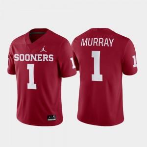 Oklahoma Sooners Kyler Murray Jersey #1 Crimson Men College Football Game