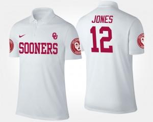 Oklahoma Sooners Landry Jones Polo Men #12 White