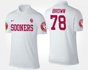 Oklahoma Sooners Orlando Brown Polo Mens #78 White