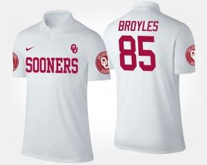 Oklahoma Sooners Ryan Broyles Polo Men's White #85