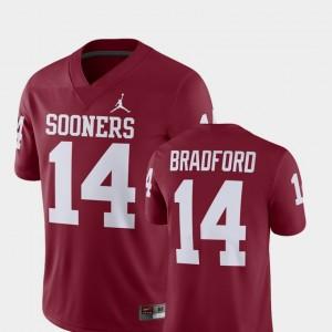 Oklahoma Sooners Sam Bradford Jersey #14 Alumni Football Game Crimson Player For Men's