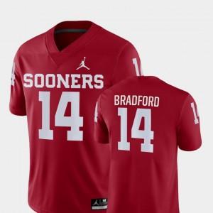 Oklahoma Sooners Sam Bradford Jersey #14 Game For Men's Crimson College Football