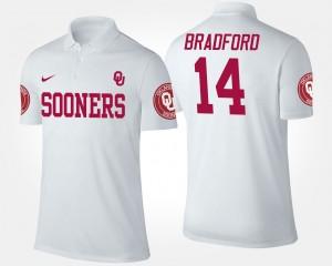 Oklahoma Sooners Sam Bradford Polo For Men White #14