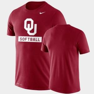 Oklahoma Sooners T-Shirt Drop Legend Performance Softball Crimson For Men's