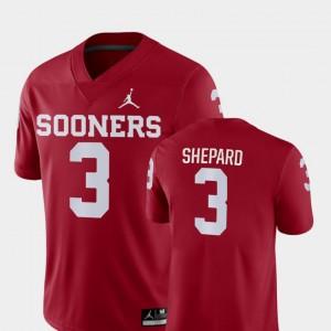 Oklahoma Sooners Sterling Shepard Jersey College Football Crimson Game For Men #3