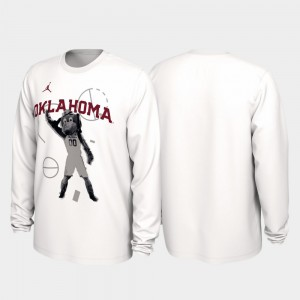 Oklahoma Sooners T-Shirt Our Time Bench Legend White 2020 March Madness Mens