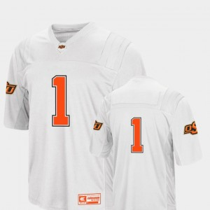 Oklahoma State Cowboys and Cowgirls Jersey College Football White Colosseum 2018 #1 For Men