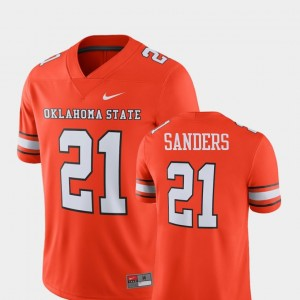 Oklahoma State Cowboys and Cowgirls Barry Sanders Jersey Player #21 Orange For Men's Alumni Football Game