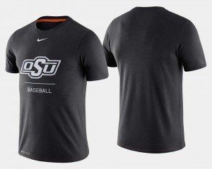 Oklahoma State Cowboys and Cowgirls T-Shirt For Men Dugout Performance College Baseball Black