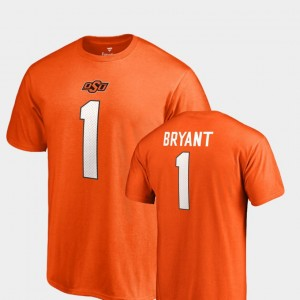 Oklahoma State Cowboys and Cowgirls Dez Bryant T-Shirt #1 College Legends Name & Number Men's Orange
