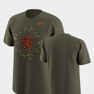 Oklahoma State Cowboys and Cowgirls T-Shirt Olive Legend Camo For Men