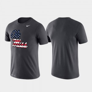 Ole Miss Rebels T-Shirt Americana Legend Men's Performance Anthracite