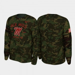 Ole Miss Rebels T-Shirt Camo Legend Long Sleeve 2019 Veterans Day For Men's