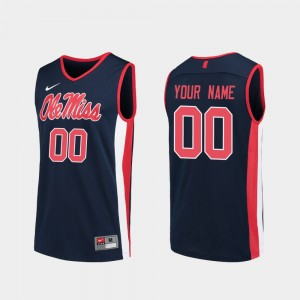 Ole Miss Rebels Customized Jerseys #00 Replica For Men Navy College Basketball