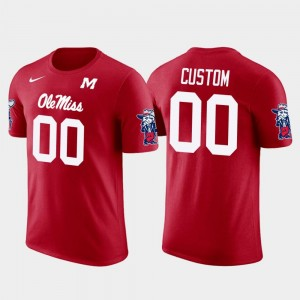 Ole Miss Rebels Customized T-Shirts Red Cotton Football #00 Future Stars Men