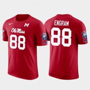 Ole Miss Rebels Evan Engram T-Shirt #88 Future Stars Red New York Giants Football Men's