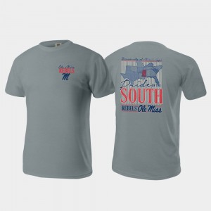 Ole Miss Rebels T-Shirt Pride of the South Gray Comfort Colors For Men