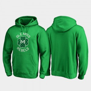 Ole Miss Rebels Hoodie St. Patrick's Day Kelly Green Luck Tradition For Men's