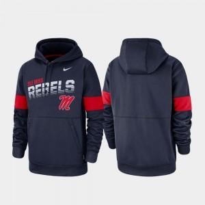 Ole Miss Rebels Hoodie Performance Men's Navy Pullover