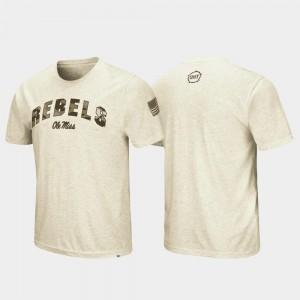 Ole Miss Rebels T-Shirt Oatmeal OHT Military Appreciation Desert Camo Men
