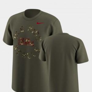 Ole Miss Rebels T-Shirt Olive For Men's Legend Camo