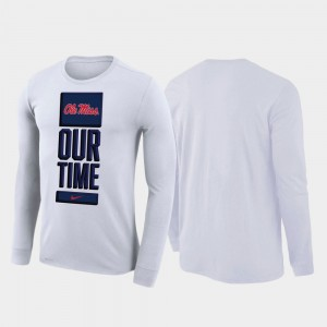 Ole Miss Rebels T-Shirt 2020 March Madness For Men Our Time Bench Legend White