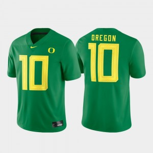 Oregon Ducks Jersey Green For Men #10 Game Football