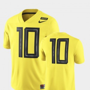 Oregon Ducks Jersey For Men's Football Game Yellow 2018 Mighty Oregon #10