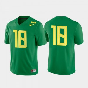 Oregon Ducks Jersey Apple Green Game Authentic Mens College Football #18