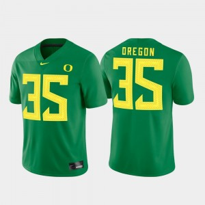 Oregon Ducks Jersey Game For Men's #35 Green