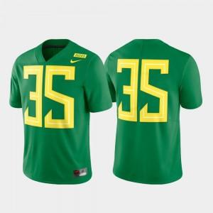 Oregon Ducks Jersey Mens #35 Limited Green Football