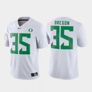 Oregon Ducks Jersey Football #35 Game White Men