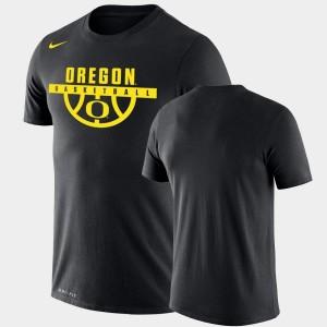 Oregon Ducks T-Shirt Drop Legend Black Performance Basketball For Men