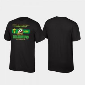 Oregon Ducks T-Shirt Locker Room Black 2019 Pac-12 Football Champions For Men's