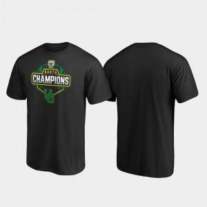 Oregon Ducks T-Shirt 2019 PAC-12 North Football Division Champions For Men Black