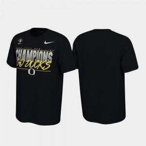 Oregon Ducks T-Shirt Black 2020 Rose Bowl Champions Locker Room For Men's