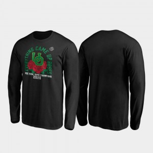 Oregon Ducks T-Shirt 2020 Rose Bowl Champions Black Mens Receiver Long Sleeve