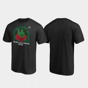 Oregon Ducks T-Shirt Receiver 2020 Rose Bowl Champions Black For Men