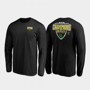 Oregon Ducks T-Shirt 2020 Rose Bowl Champions Score Lateral Long Sleeve Mens Black