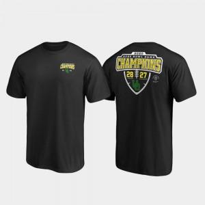 Oregon Ducks T-Shirt Black Men Score Lateral 2020 Rose Bowl Champions