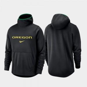 Oregon Ducks Hoodie Men Spotlight Basketball Team Logo Pullover Black