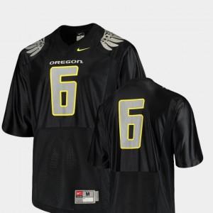 Oregon Ducks Jersey Replica #6 For Men College Football Black
