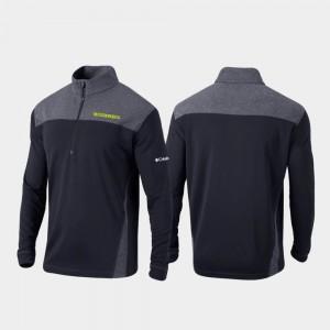 Oregon Ducks Jacket For Men's Omni-Wick Standard Quarter-Zip Pullover Black