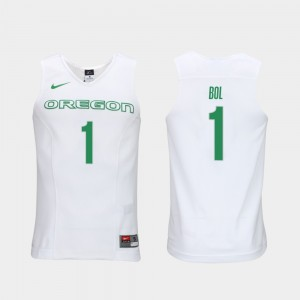 Oregon Ducks Bol Bol Jersey For Men #1 White Authentic Performace Elite Authentic Performance College Basketball