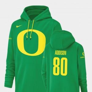 Oregon Ducks Bryan Addison Hoodie Green For Men's Football Performance #80 Champ Drive