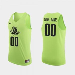 Oregon Ducks Customized Jerseys Apple Green Men Authentic #00 College Basketball