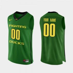 Oregon Ducks Customized Jerseys Authentic Apple Green College Basketball Men #00