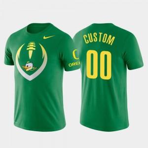 Oregon Ducks Custom T-Shirt Green Men #00 Performance Football Icon