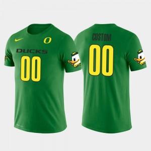 Oregon Ducks Customized T-Shirt #00 Green Cotton Football Future Stars For Men