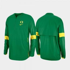 Oregon Ducks Jacket For Men's Green Quarter-Zip 2019 Coaches Sideline